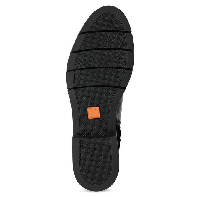 Kožená dámska členková obuv so strapcami flexible, čierna, 593-6195 - 18
