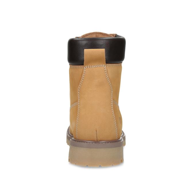 Pánska členková obuv so šnurovaním weinbrenner, žltá, 896-8733 - 15