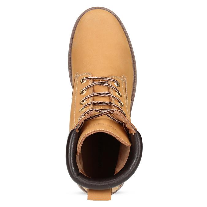 Pánska členková obuv so šnurovaním weinbrenner, žltá, 896-8733 - 17