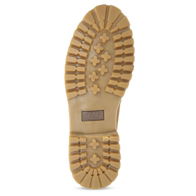 Pánska členková obuv so šnurovaním weinbrenner, žltá, 896-8733 - 18