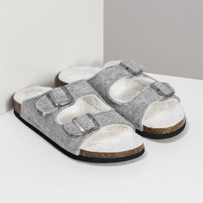 Dámske domáce nazuváky s kožúškom de-fonseca, šedá, 579-2636 - 26