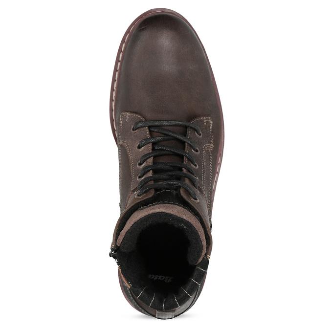 Členková kožená pánska obuv bata, hnedá, 896-4666 - 17