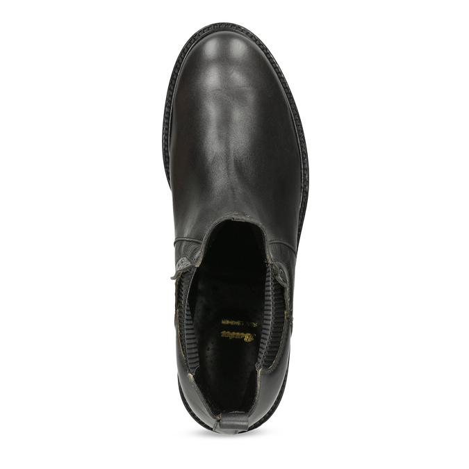 Kožená dámska Chelsea obuv s kovovými cvočkami bata, šedá, 596-9734 - 17