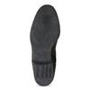Dámske kožené čižmy s riasením bata, čierna, 596-6700 - 18