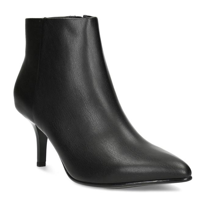 Dámska členková obuv na podpätku bata-b-flex, čierna, 791-6621 - 13