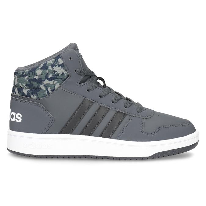 Šedé členkové detské tenisky adidas, šedá, 401-2395 - 19