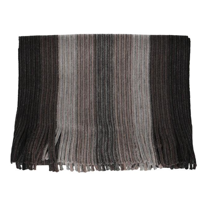 Pánsky šedý šál s prúžkami bata, hnedá, 909-8714 - 13