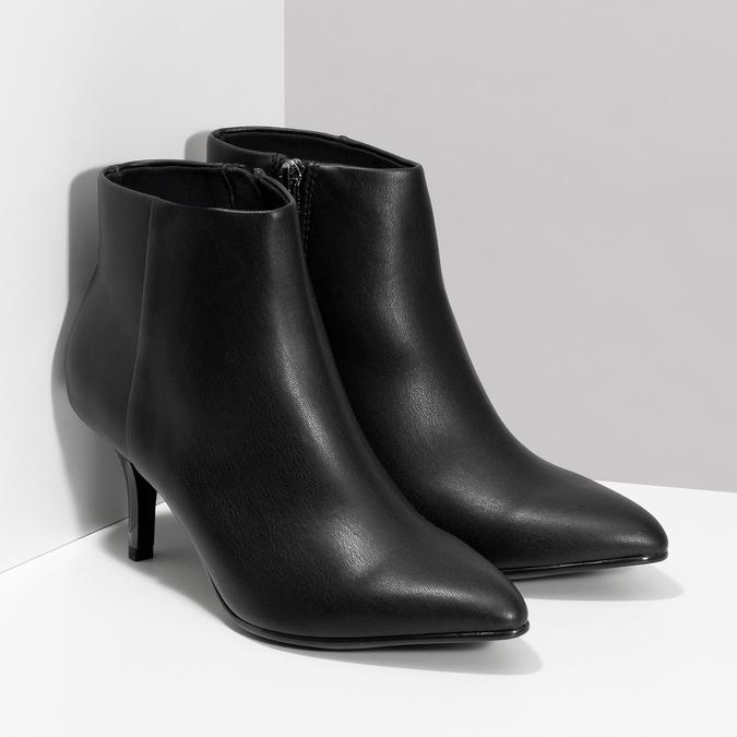 Dámska členková obuv na podpätku bata-b-flex, čierna, 791-6621 - 26