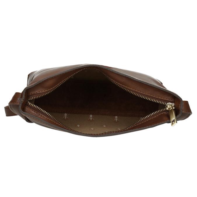 Kožená hnedá crossbody kabelka bata, hnedá, 964-3605 - 15
