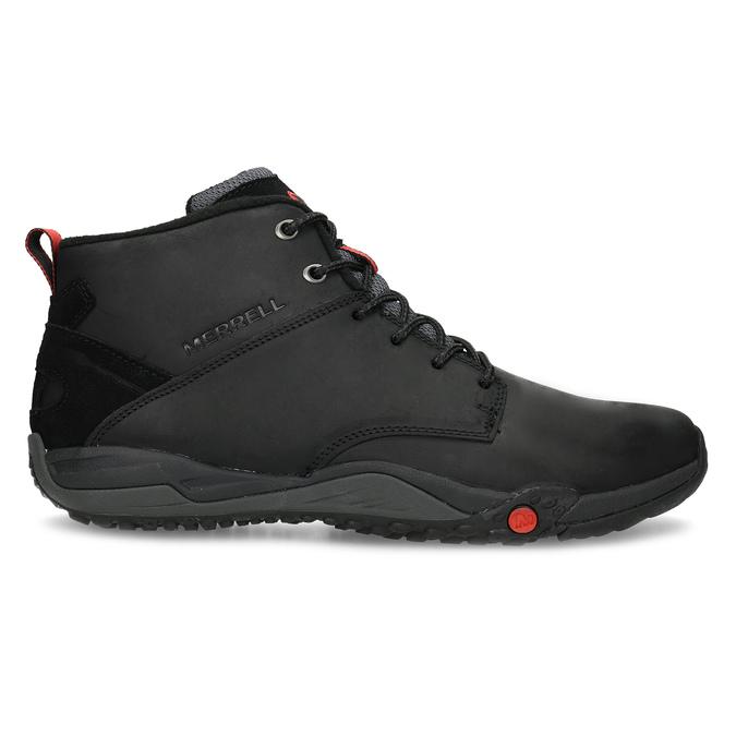 Kožená pánska členková obuv outdoorová merrell, čierna, 806-6102 - 19