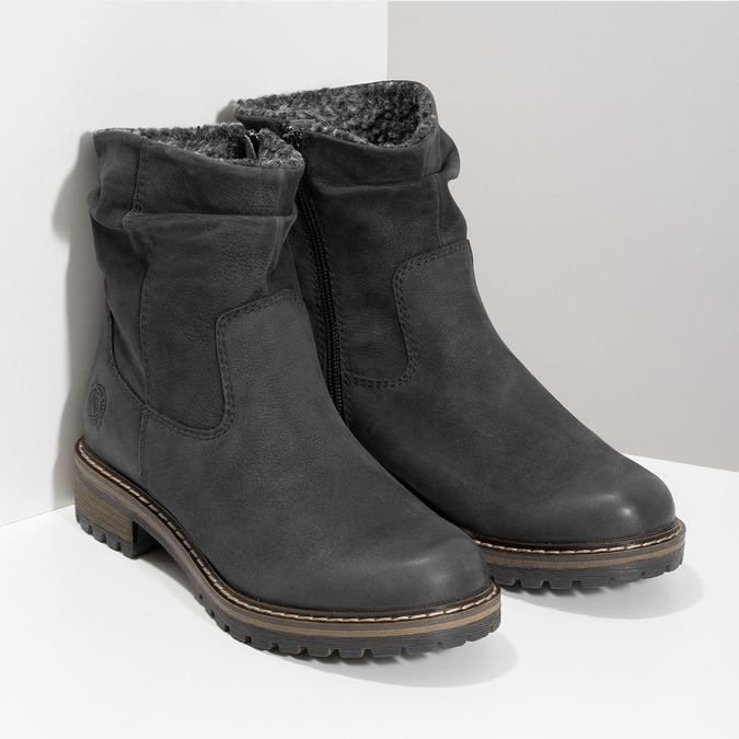 Kožené dámske zimné čižmy so zateplením bata, čierna, 596-6703 - 26