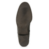 Kožené hnedé čižmy s prešitím bata, hnedá, 596-4700 - 18