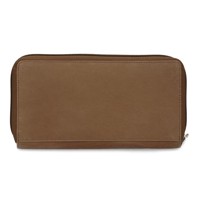 Kožená dámska peňaženka s ornamentom bata, hnedá, 944-4615 - 16