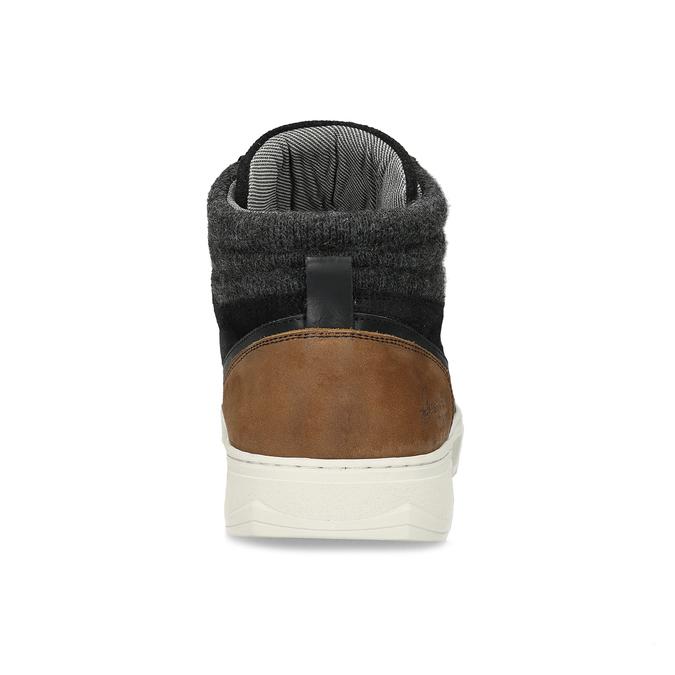 Čierne členkové pánske tenisky bata, čierna, 846-6722 - 15