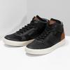 Čierne členkové pánske tenisky bata, čierna, 846-6722 - 16