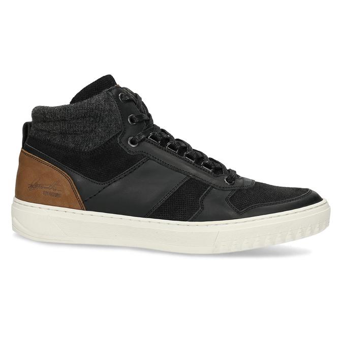 Čierne členkové pánske tenisky bata, čierna, 846-6722 - 19