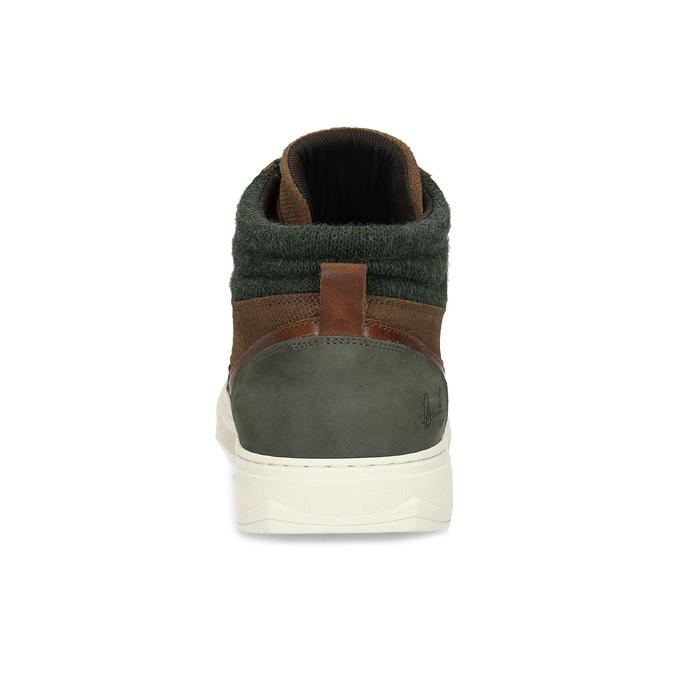 Hnedé členkové kožené tenisky bata, hnedá, 846-3722 - 15