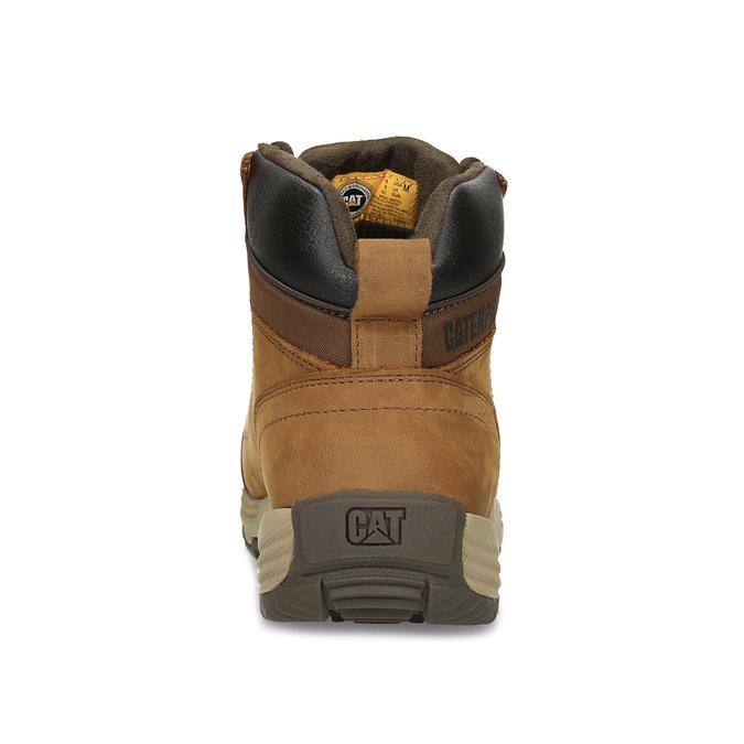 Hnedá pánska kožená členková obuv caterpillar, hnedá, 806-3107 - 15