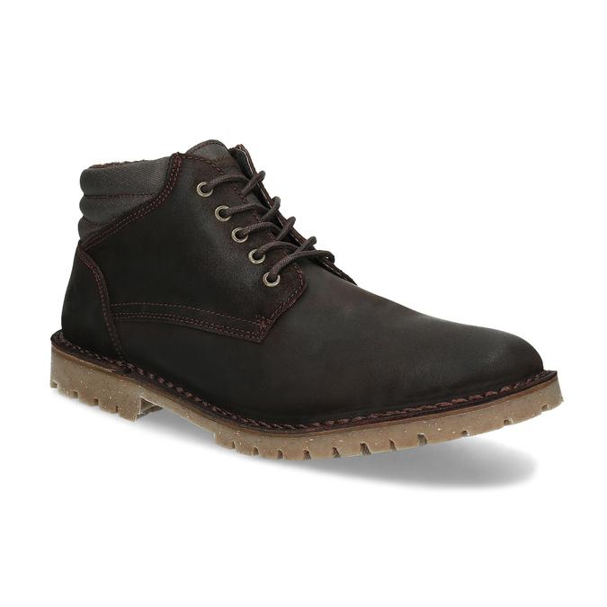 Hnedá pánska kožená členková obuv weinbrenner, hnedá, 896-4630 - 13