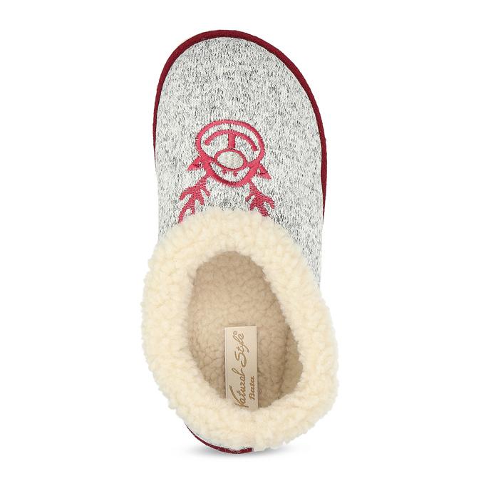 Dámska domáca obuv so zateplením bata, šedá, 579-2640 - 17