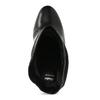 Čierne kožené čižmy s riasením bata, čierna, 794-6663 - 17