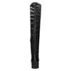 Čierne kožené čižmy s kovovými cvokmi bata, čierna, 596-6725 - 15