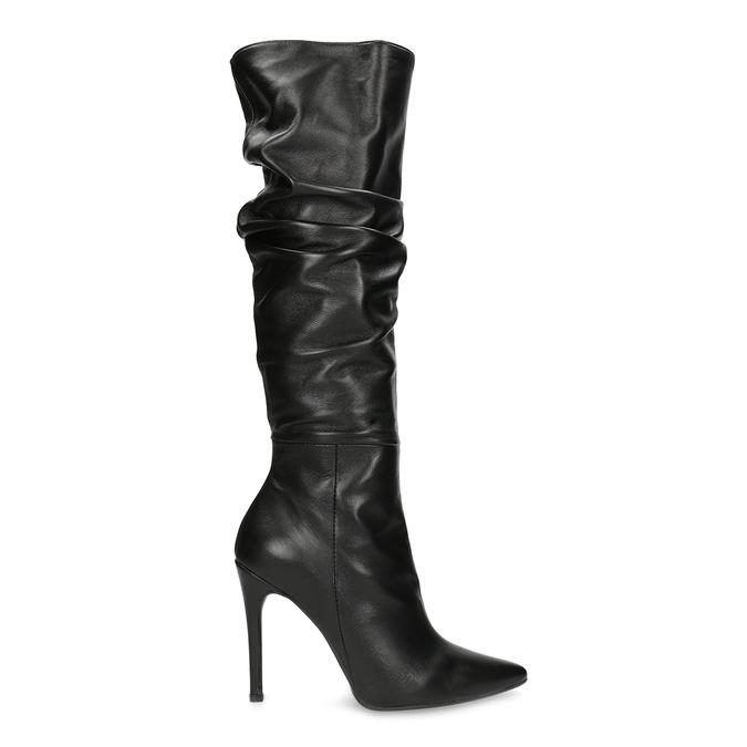 Kožené čierne čižmy na ihličkovom podpätku bata, čierna, 794-6665 - 19