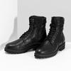 Dámska čierna kožená členková obuv bata, čierna, 596-6722 - 16