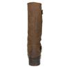 Dámske hnedé čižmy s prackami bata, hnedá, 691-4643 - 15