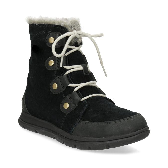 27b7fb2e1b058 Dámska kožená zimná obuv s kovovými cvočkami sorel, čierna, 693-6081 - 13
