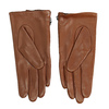 Dámske hnedé prešívané kožené rukavičky bata, hnedá, 904-3108 - 16