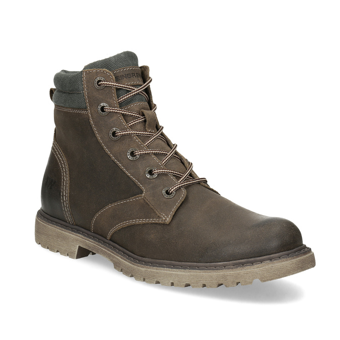 0aa63206fea7a Hnedá kožená pánska zimná obuv weinbrenner, hnedá, 896-4693 - 13