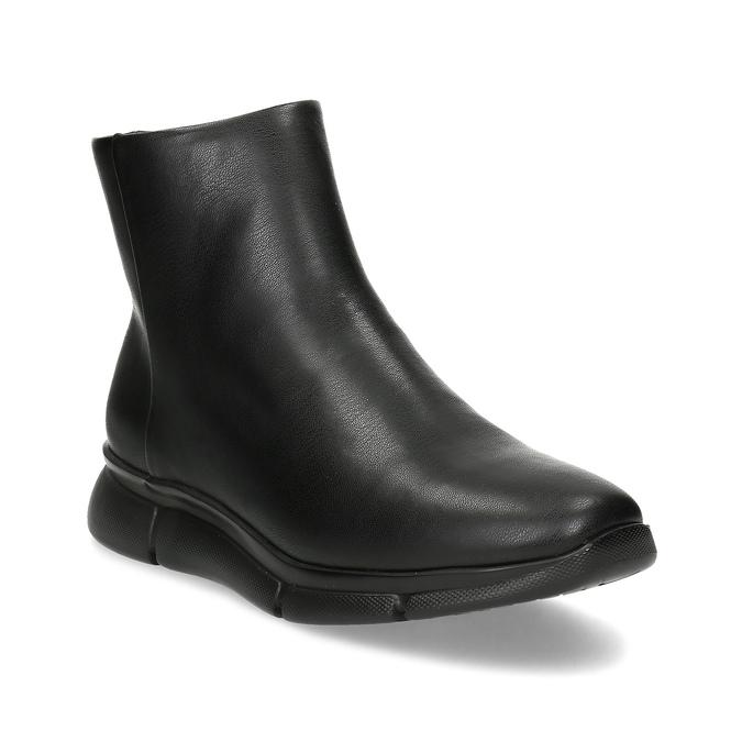 Dámska čierna členková obuv hladká bata-b-flex, čierna, 591-6636 - 13