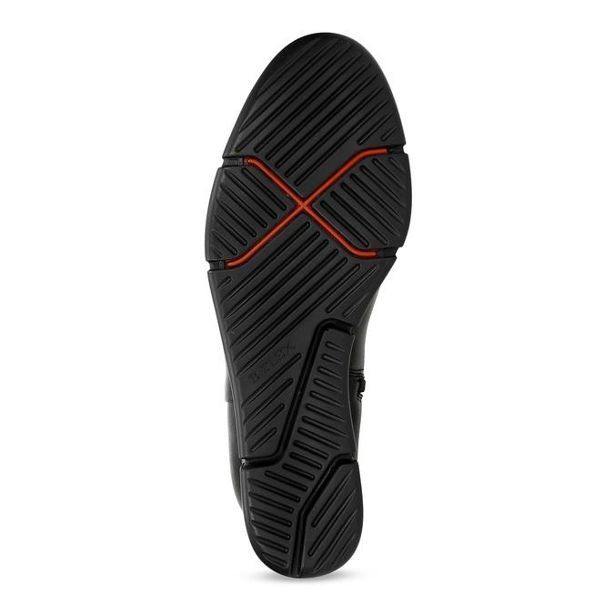 Dámska čierna členková obuv na kline bata-b-flex, čierna, 791-6630 - 18