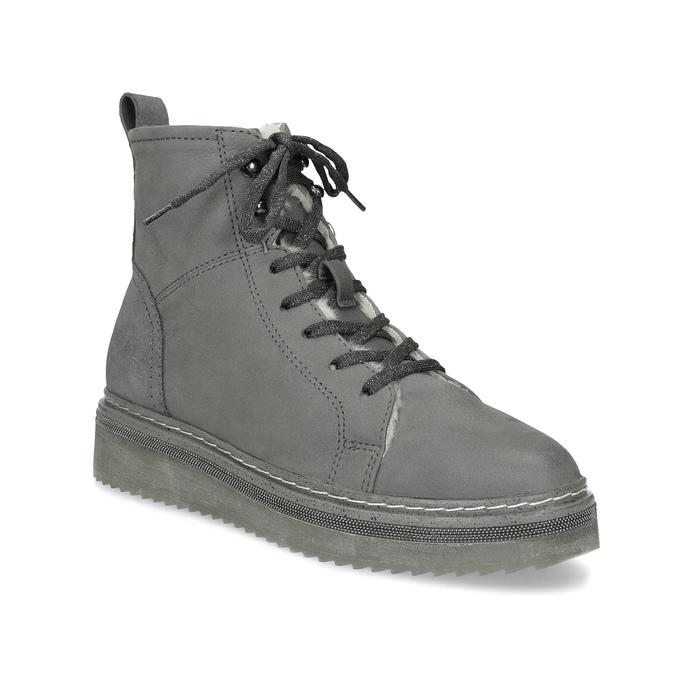 b22e16bbfeea4 Bata Členková dámska kožená zimná obuv - Bez podpätku | Baťa.sk