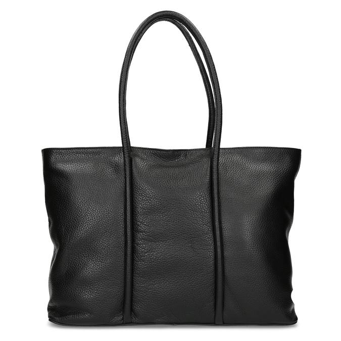 Čierna kožená kabelka bata, čierna, 964-6604 - 26