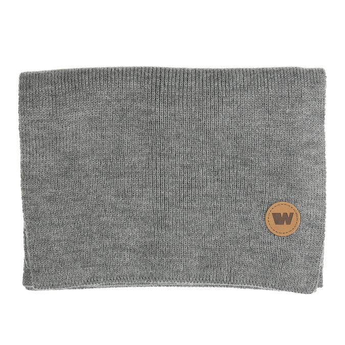 Šedý šál s hnedým detailom weinbrenner, šedá, 909-2729 - 26