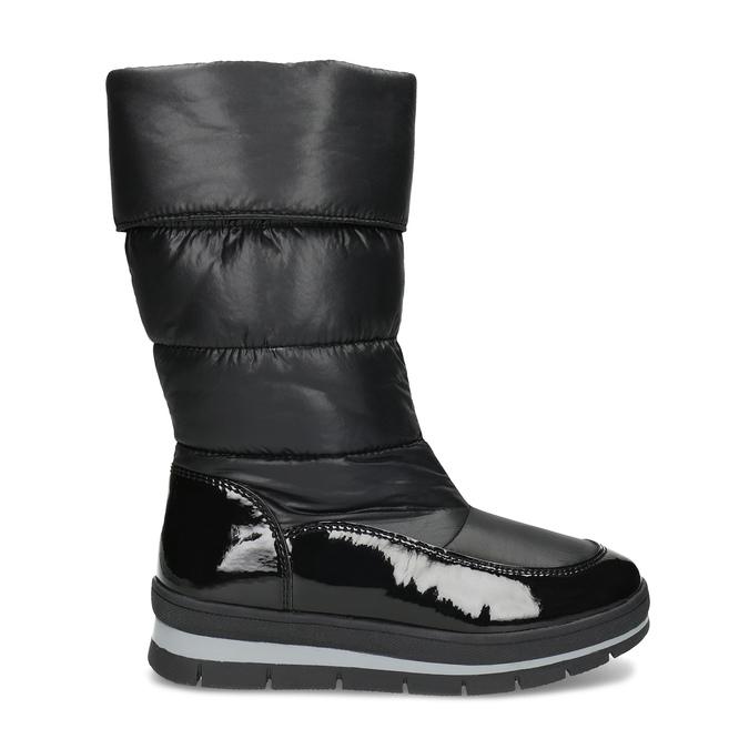 Dámske čierne zimné topánky s výraznou podrážkou bata, čierna, 599-6622 - 19