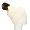 Krémová dámska čapica s bambuľkou weinbrenner, biela, 909-1726 - 13