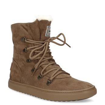 Hnedá dámska zimná obuv so zateplením skechers, hnedá, 503-3132 - 13