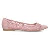 Ružové čipkované baleríny do špičky bata-red-label, ružová, 529-8643 - 19