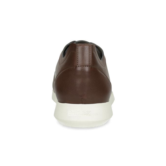 Hnedé pánske tenisky s bielou podrážkou bata-b-flex, hnedá, 841-3569 - 15