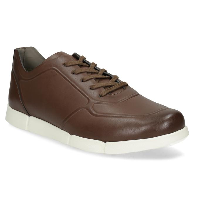 b09b3a1af254 Bata B Flex Hnedé pánske tenisky s bielou podrážkou - Všetky topánky ...