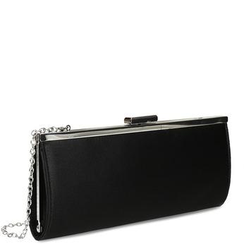 Čierna dámska listová kabelka s retiazkou bata, čierna, 969-6811 - 13