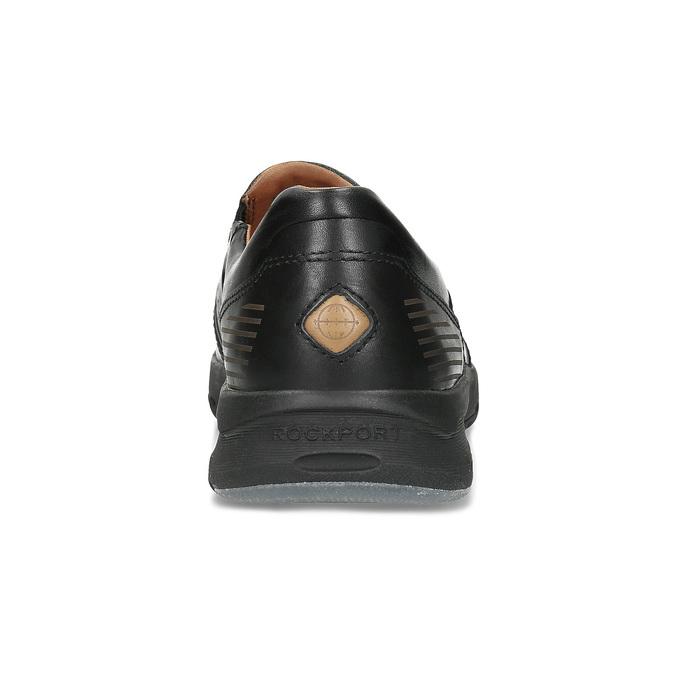 Kožené pánske mokasíny v Loafers štýle rockport, čierna, 814-6077 - 15