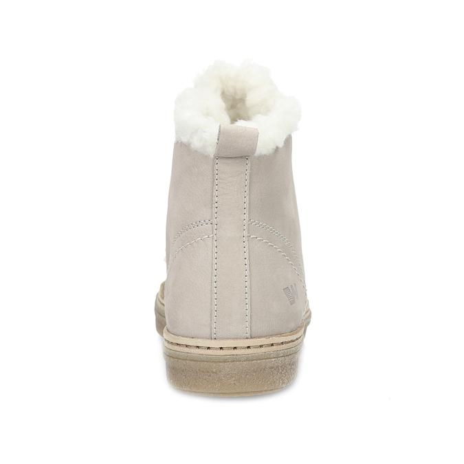 Kožená členková zimná obuv s kožúškom weinbrenner, béžová, 596-8730 - 15