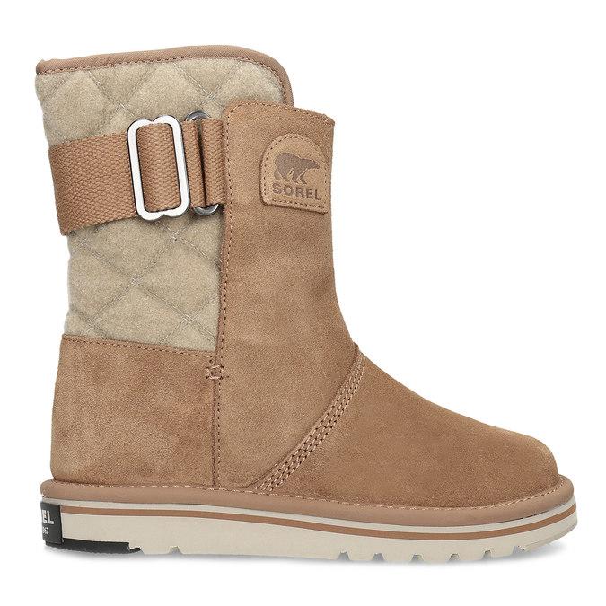 Hnedé dámske kožené topánky sorel, hnedá, 693-3080 - 19
