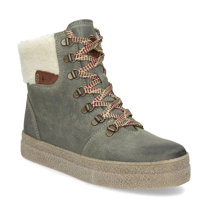Weinbrenner Kožená dámska zimná obuv - Bez podpätku  5b38cd6422