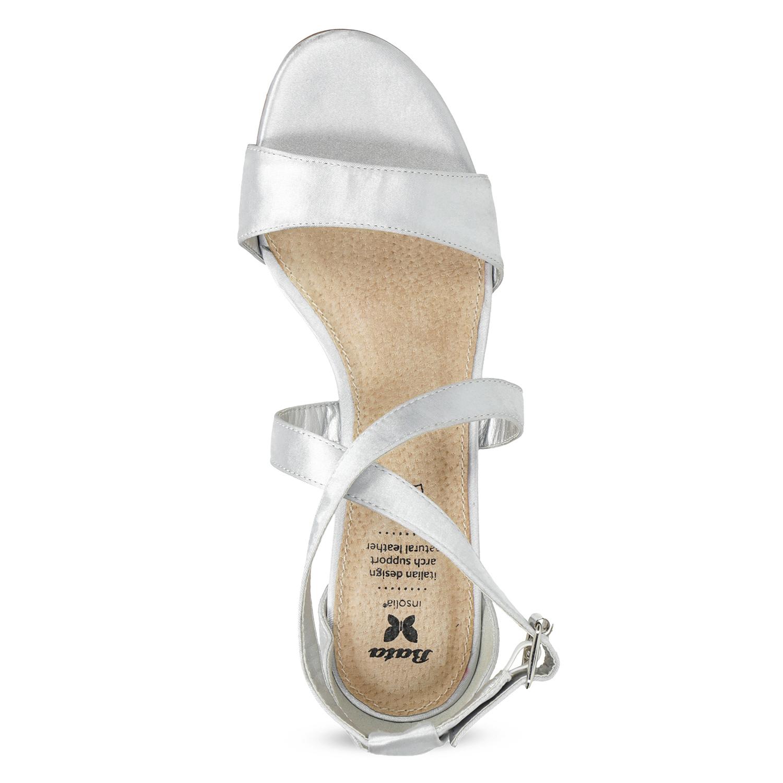 8de9731be1 Insolia Strieborné sandále na ihličkovom podpätku - Sandále