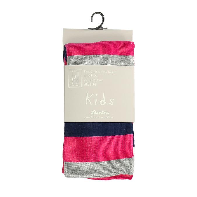 Detské ružové pruhované pančuchové nohavice bata, viacfarebné, 919-5687 - 13